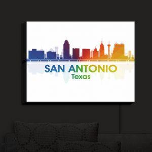 Nightlight Sconce Canvas Light | Angelina Vick - City I San Antonio Texas | Skyline Downtown San Antonio