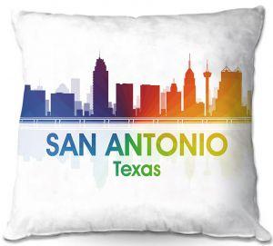 Throw Pillows Decorative Artistic   Angelina Vick - City I San Antonio Texas