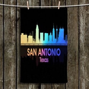 Unique Hanging Tea Towels | Angelina Vick - City V San Antonio Texas | Skyline Downtown San Antonio