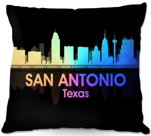 Decorative Outdoor Patio Pillow Cushion | Angelina Vick - City V San Antonio Texas
