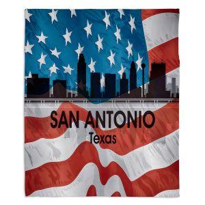 Decorative Fleece Throw Blankets | Angelina Vick - City VI San Antonio Texas