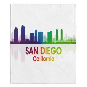 Decorative Fleece Throw Blankets | Angelina Vick - City I San Diego California