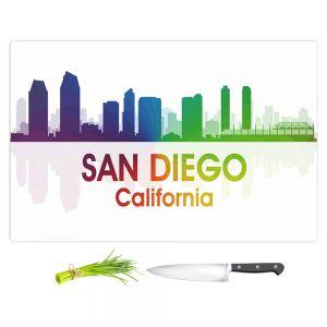 Artistic Kitchen Bar Cutting Boards | Angelina Vick - City I San Diego California
