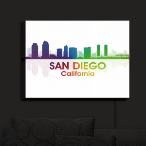 Nightlight Sconce Canvas Light | Angelina Vick - City I San Diego California | Skyline Downtown San Diego