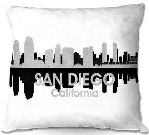 Decorative Outdoor Patio Pillow Cushion | Angelina Vick - City IV San Diego California