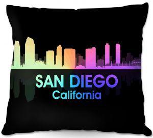 Decorative Outdoor Patio Pillow Cushion | Angelina Vick - City V San Diego California