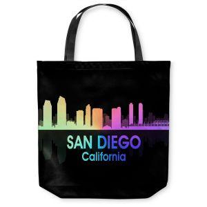 Unique Shoulder Bag Tote Bags   Angelina Vick - City V San Diego California