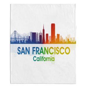 Decorative Fleece Throw Blankets | Angelina Vick - City I San Francisco California