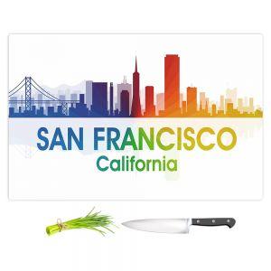 Artistic Kitchen Bar Cutting Boards | Angelina Vick - City I San Francisco California