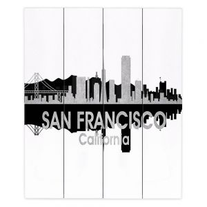 Decorative Wood Plank Wall Art |Angelina Vick - City IV San Francisco California