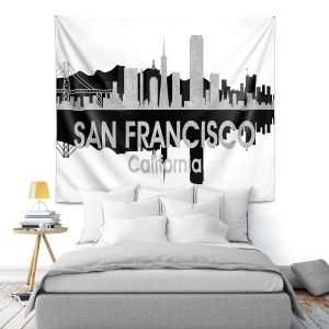 Artistic Wall Tapestry | Angelina Vick - City IV San Francisco California