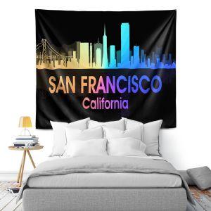 Artistic Wall Tapestry | Angelina Vick - City V San Francisco California