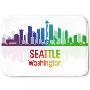 Decorative Bathroom Mats | Angelina Vick - City I Seattle Washington