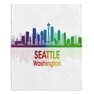 Artistic Sherpa Pile Blankets | Angelina Vick - City I Seattle Washington