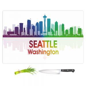 Artistic Kitchen Bar Cutting Boards | Angelina Vick - City I Seattle Washington