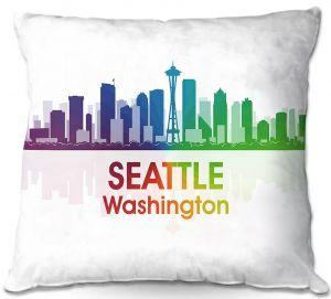 Decorative Outdoor Patio Pillow Cushion | Angelina Vick - City I Seattle Washington