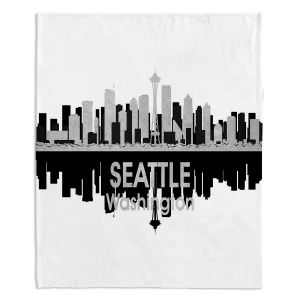 Artistic Sherpa Pile Blankets | Angelina Vick - City IV Seattle Washington