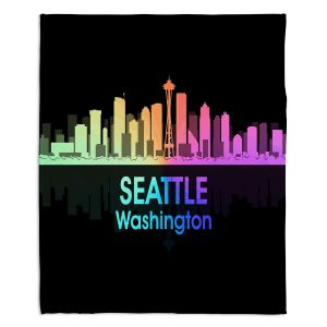 Decorative Fleece Throw Blankets | Angelina Vick - City V Seattle Washington