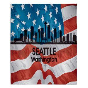 Decorative Fleece Throw Blankets | Angelina Vick - City VI Seattle Washington