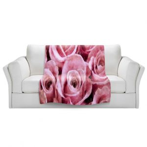 Artistic Sherpa Pile Blankets | Angelina Vick - Soft Pink Roses | flower still life close up