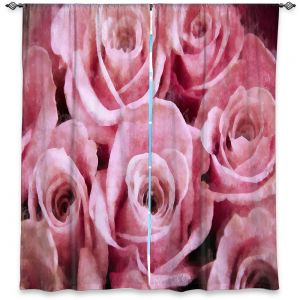 Decorative Window Treatments | Angelina Vick - Soft Pink Roses | flower still life close up