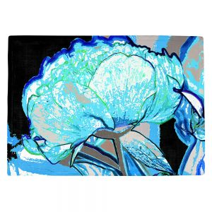 Countertop Place Mats   Angelina Vick - Today Flower Blue   flower up close digital