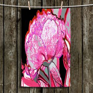 Unique Hanging Tea Towels | Angelina Vick - Today Flower Pink | flower up close digital