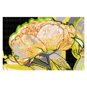 Decorative Floor Covering Mats | Angelina Vick - Today Flower Yellow | flower up close digital