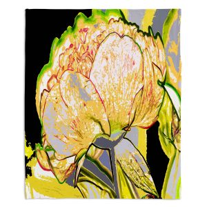 Artistic Sherpa Pile Blankets | Angelina Vick - Today Flower Yellow | flower up close digital