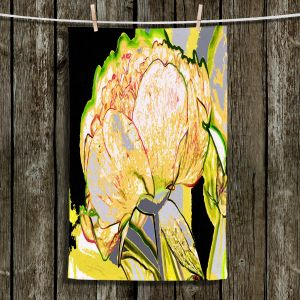 Unique Bathroom Towels | Angelina Vick - Today Flower Yellow | flower up close digital