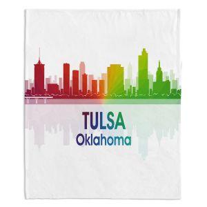 Decorative Fleece Throw Blankets | Angelina Vick - City I Tulsa Oklahoma