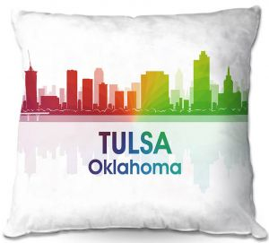 Throw Pillows Decorative Artistic | Angelina Vick - City I Tulsa Oklahoma