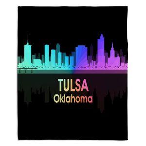 Decorative Fleece Throw Blankets | Angelina Vick - City V Tulsa Oklahoma