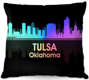 Decorative Outdoor Patio Pillow Cushion   Angelina Vick - City V Tulsa Oklahoma