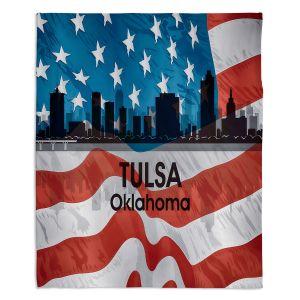 Decorative Fleece Throw Blankets | Angelina Vick - City VI Tulsa Oklahoma
