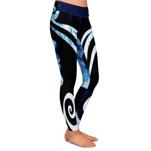 Casual Comfortable Leggings | Angelina Vick - Wait for You Blue | silhouette profile face