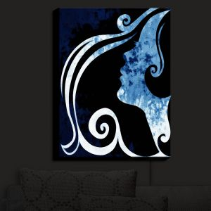 Nightlight Sconce Canvas Light | Angelina Vick - Wait for You Blue