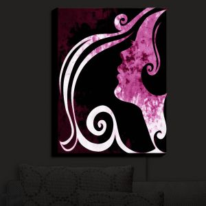 Nightlight Sconce Canvas Light | Angelina Vick - Wait for You Purple