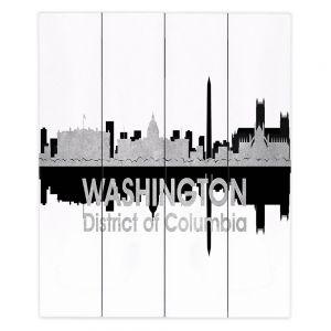 Decorative Wood Plank Wall Art  Angelina Vick - City IV Washington DC