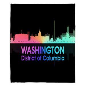 Decorative Fleece Throw Blankets | Angelina Vick - City V Washington DC
