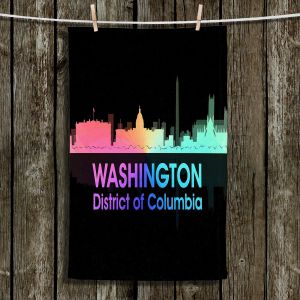Unique Hanging Tea Towels | Angelina Vick - City V Washington DC | Skyline Downtown DC