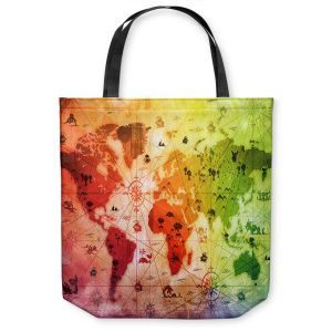 Unique Shoulder Bag Tote Bags | Angelina Vick - Whimsical World Map VII