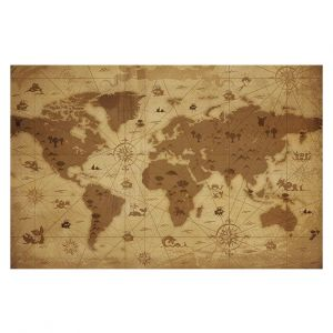 Decorative Floor Coverings | Angelina Vick - Whimsical World Map I