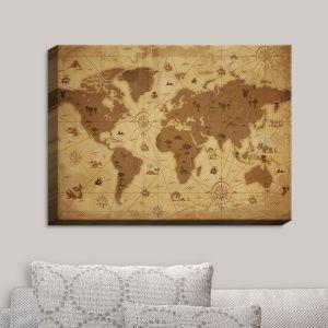 Decorative Canvas Wall Art | Angelina Vick - Whimsical World Map I