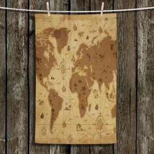 Unique Bathroom Towels   Angelina Vick - Whimsical World Map I