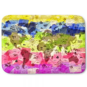Decorative Bathroom Mats | Angelina Vick - Whimsical World Map II