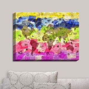 Decorative Canvas Wall Art | Angelina Vick - Whimsical World Map II