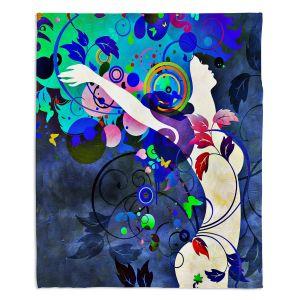 Decorative Fleece Throw Blankets | Angelina Vick - Wondrous Night