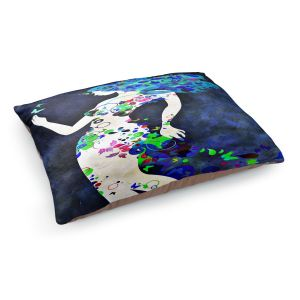 Decorative Dog Pet Beds | Angelina Vick - Wondrous Night 8 | Graphic silhouette abstract leaves butterfly flower