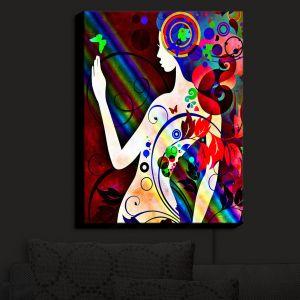 Nightlight Sconce Canvas Light | Angelina Vick - Wondrous Red 3